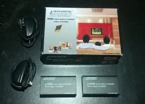 j tech hdmi over single cat 5e converter