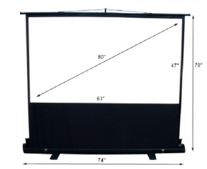 projection screen front